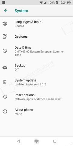 Xiaomi Mi A2 Review - OS, UI, Settings menu, applications