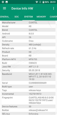 Oukitel K8 Review - Performance, benchmarks