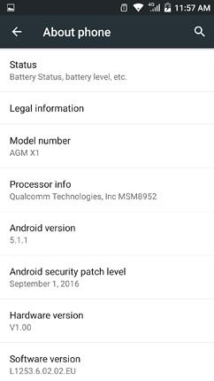 AGM X1 Review - OS, UI, Settings menu, applications