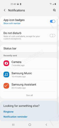 Samsung Galaxy A60 Review - OS, UI, Settings menu, applications