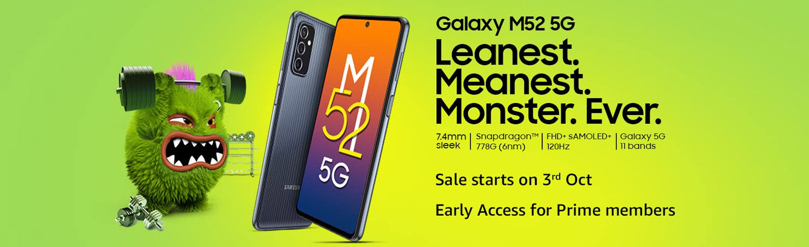 The Samsung Galaxy M52 5G goes official in India with a Snapdragon 778G chipset, 120Hz AMOLED display