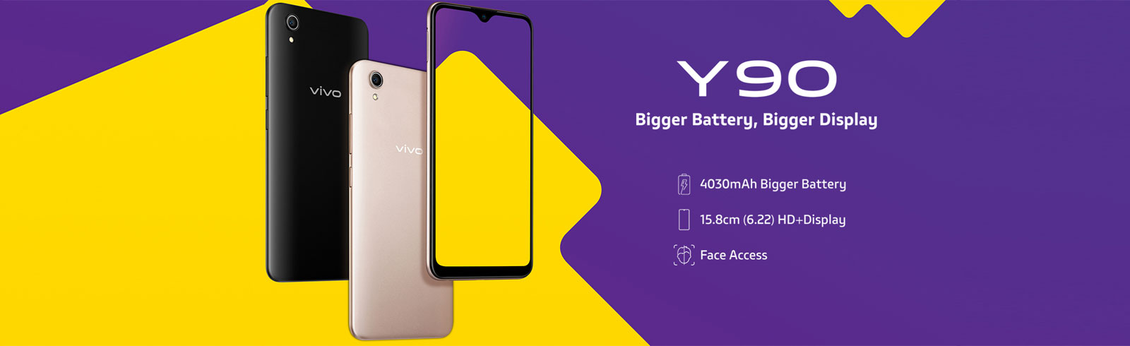 Vivo Y90 goes official in India and Pakistan