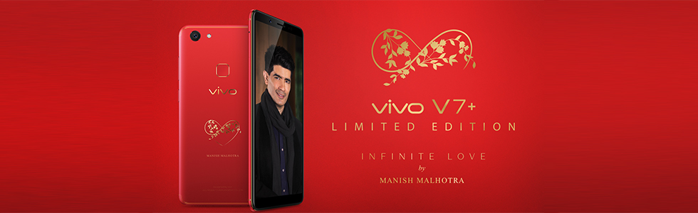 Vivo launches a Vivo V7 Plus Infinite Love Limited Edition by Manish Malhotra in India