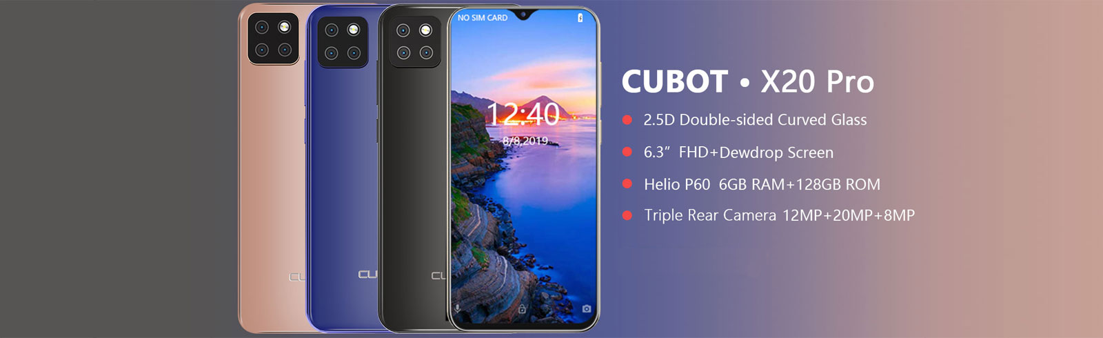 Cubot X20 Pro goes official with a 4000 mAh battery