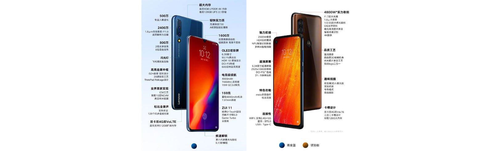 Lenovo Z6 and Motorola P50 specs unveiled prior to official announcement