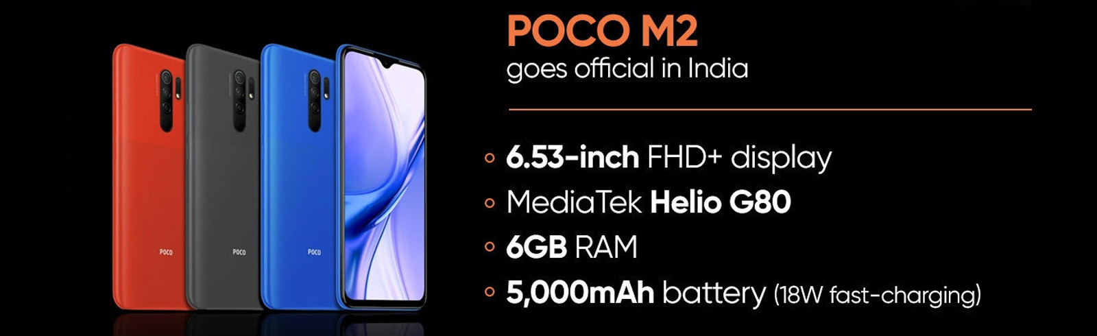Xiaomi Poco M2 is launched in India