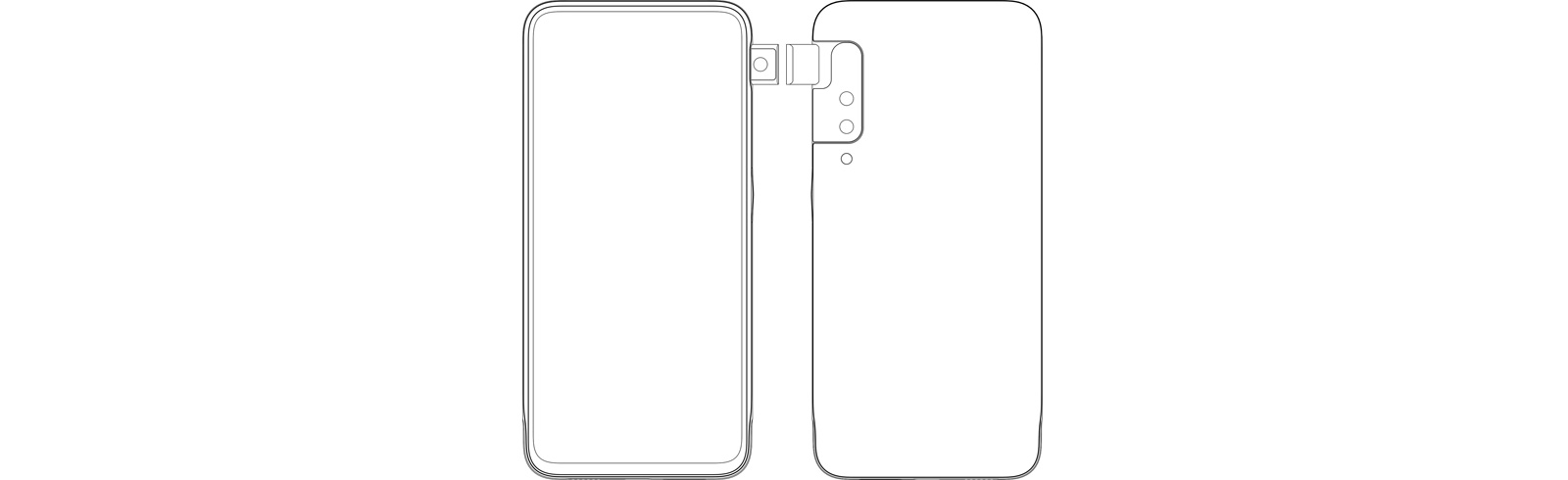 Oppo's side pop-up camera official patent images