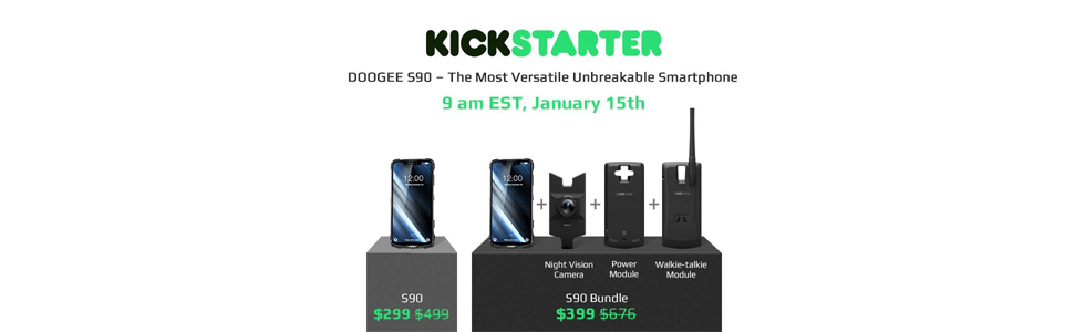 Doogee S90 will kick off on Kickstarter priced at $399 including a modules bundle