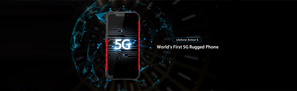 Ulefone Armor 6 is the world's first 5G rugged smartphone