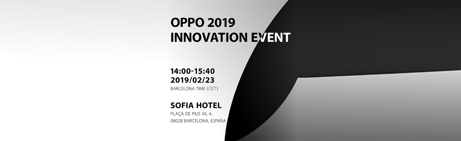 Oppo schedules its 2019 Innovation Event for February 23 in Barcelona