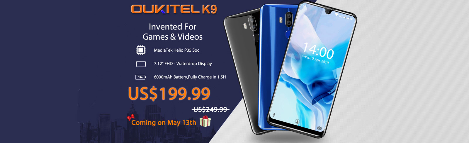 Oukitel K9 goes on sale on May 13th with a huge discount