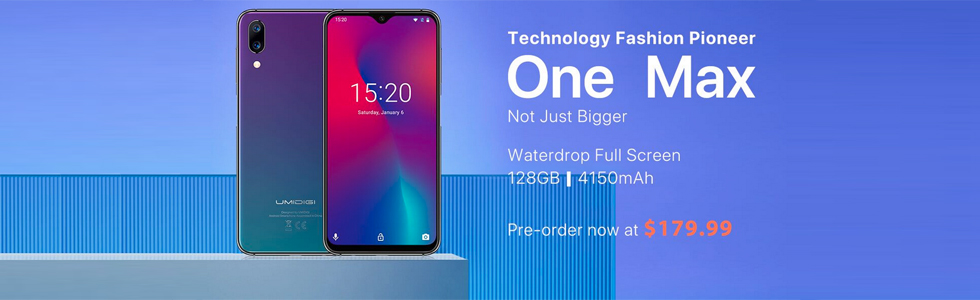 UMIDIGI One Max gets its first unboxing video and goes on pre-sale for $179.99