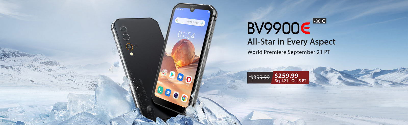 """Blackview BV9900E goes official with """"record-breaking cold resistance"""""""