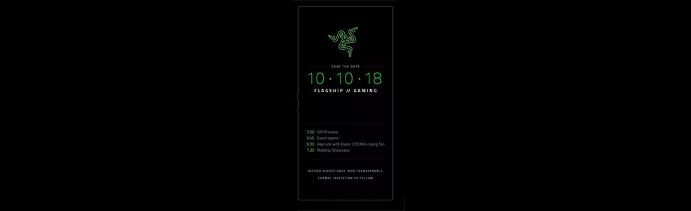 Razer Phone 2 will go official on October 10th
