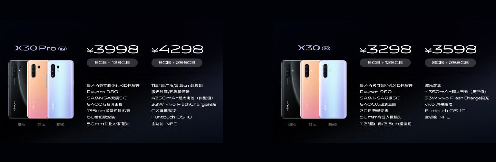 Vivo X30 and Vivo X30 Pro are official