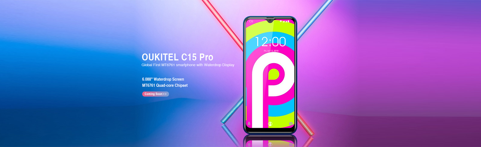 Oukitel C15 Pro with a Helio A22 chipset appears on an official render