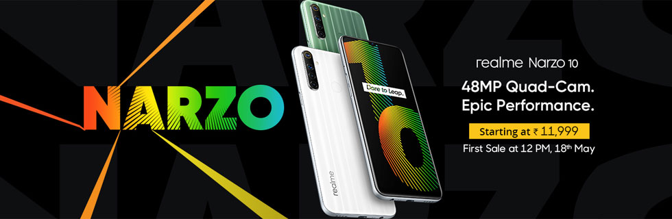 Realme announced the Narzo 10 and the Narzo 10A - specifications and prices
