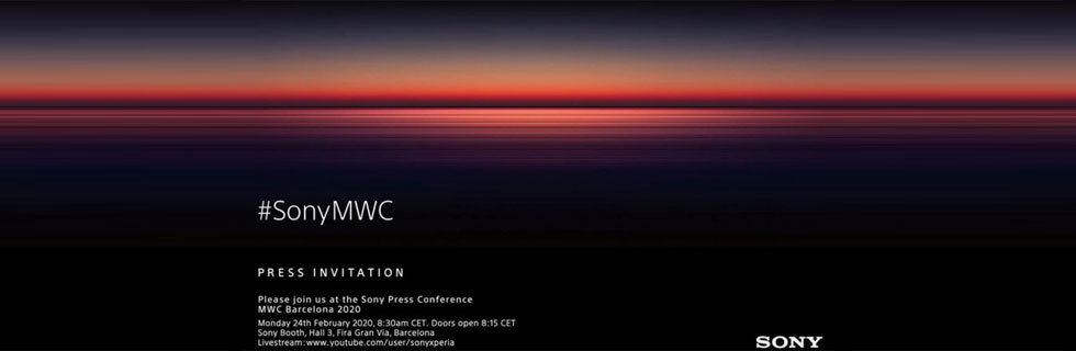 The Sony MWC 2020 event is scheduled for February 24