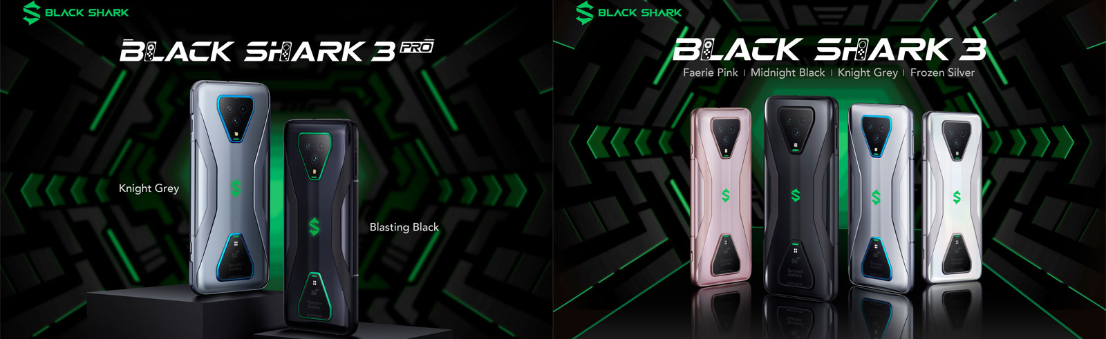 Black Shark 3 and Black Shark 3 Pro specifications and prices