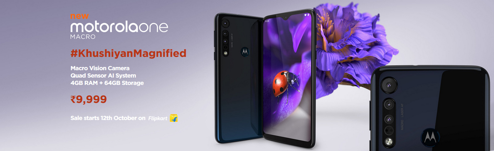Motorola One Macro with a dedicated Macro Vision camera is announced