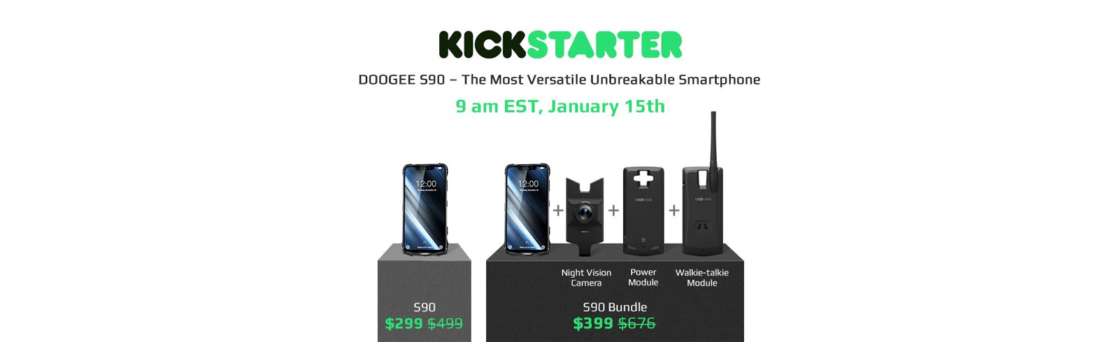 The Doogee S90 Kickstarter page is now live