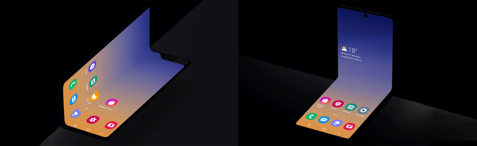 A new form factor for foldable smartphones from Samsung (teaser video)