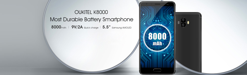 """Oukitel K8000 with a 5.5"""" HD AMOLED display, two rear cameras and 8000 mAh battery is in the works"""