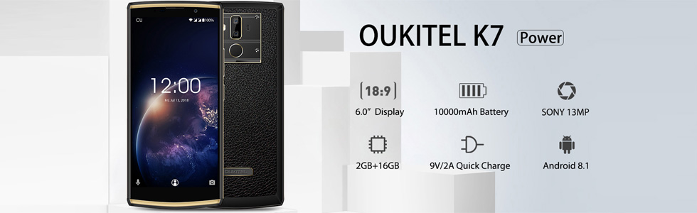 """Oukitel K7 Power is announced with a 6"""" HD+ display, 2GB of RAM, 16GB of storage, 10000 mAh battery"""