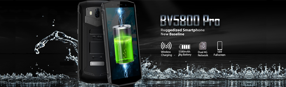 Blackview launches the ruggedized BV5800 Pro with wireless charging support and a 5580 mAh battery