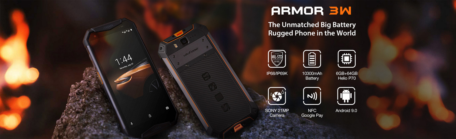 Ulefone Armor 3W and Armor 3WT are unveiled
