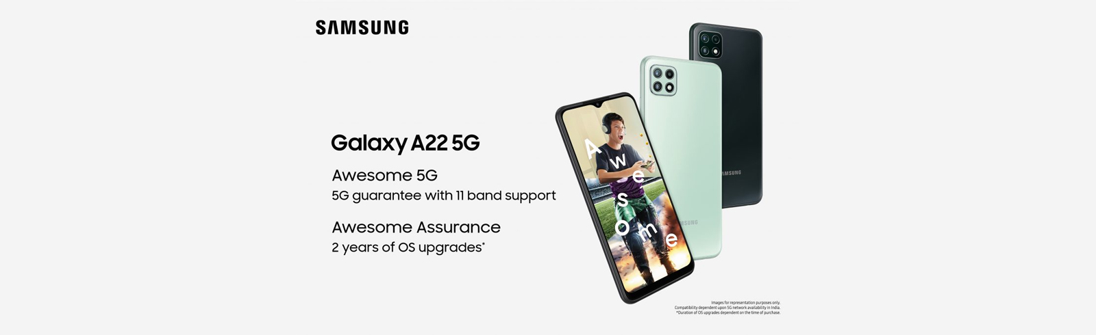 The Samsung Galaxy A22 5G goes official in India