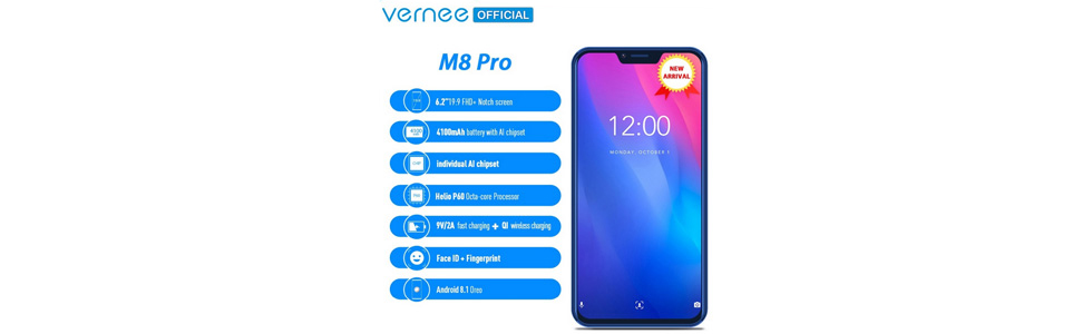 Vernee M8 Pro goes on sale without a formal announcement