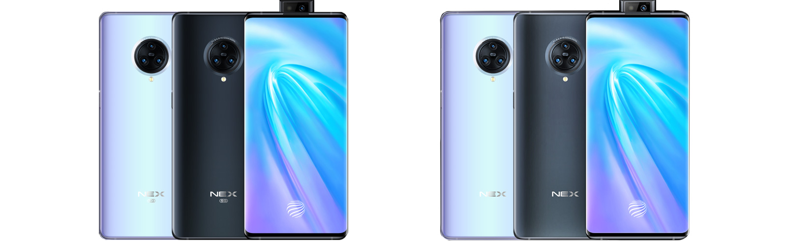 Vivo NEX 3 4G and Vivo NEX 3 5G are unveiled featuring a Waterfall Display