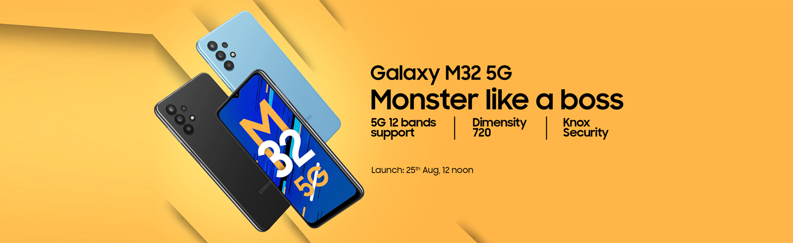 The Samsung Galaxy M32 5G with Dimensity 720 goes official in India