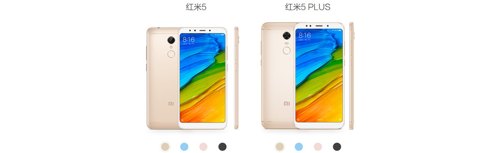 Xiaomi Redmi 5 and Redmi 5 Plus are official. Prices start at $120