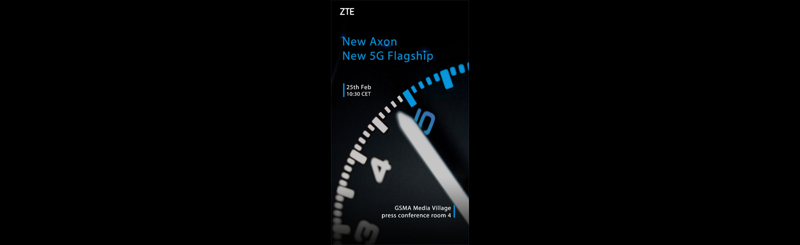 ZTE to unveil its 5G smartphone on February 25th