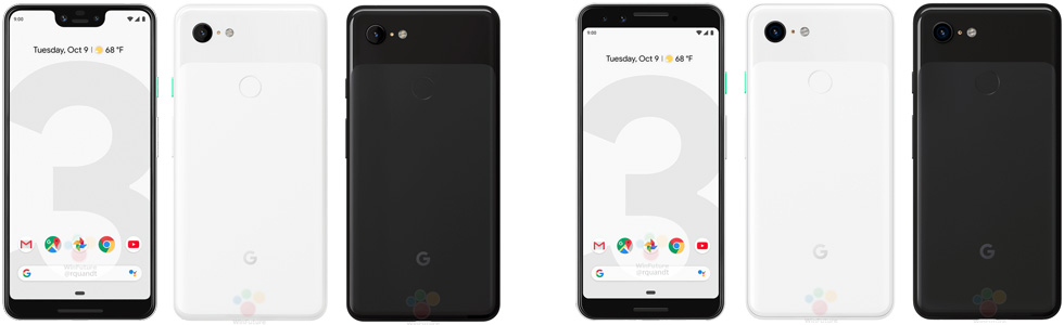 The Pixel 3 and Pixel 3 XL official renders leak prior to announcement