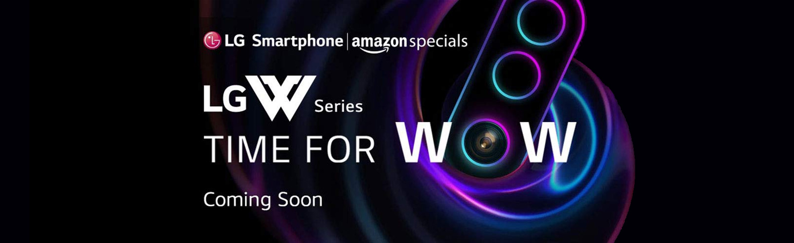 Amazon India teases the LG W30 with three rear cameras prior to tomorrow's launch