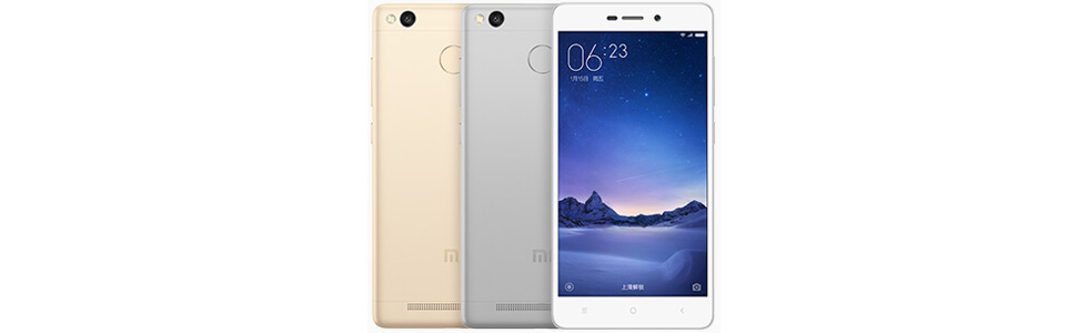 Xiaomi announced the Redmi 3S with a metal body, fingerprint sensor and a 4100 mAh battery