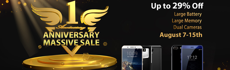 Oukitel's official store celebrates its first year with a massive flash sale