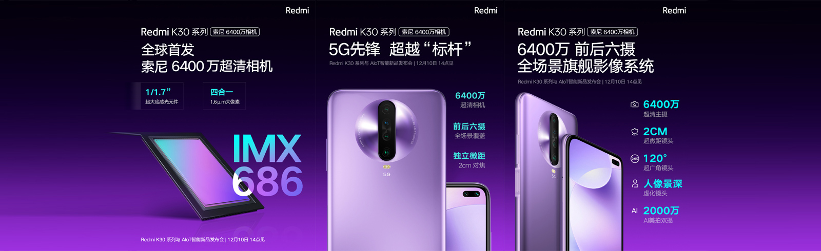 Xiaomi confirms 64MP Sony IMX686 for the Redmi K30 5G and the Redmi K30 4G