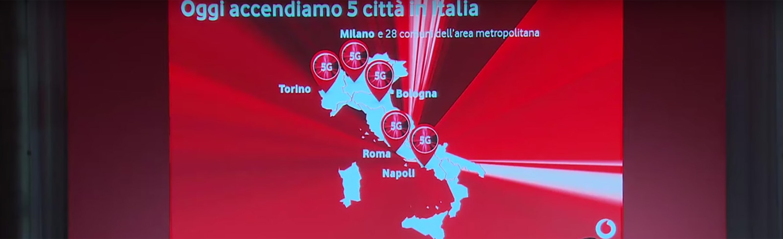 5G deployed in Italy by Vodafone