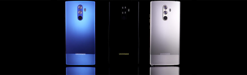 Doogee Mix 2 face recognition function promoted in a video