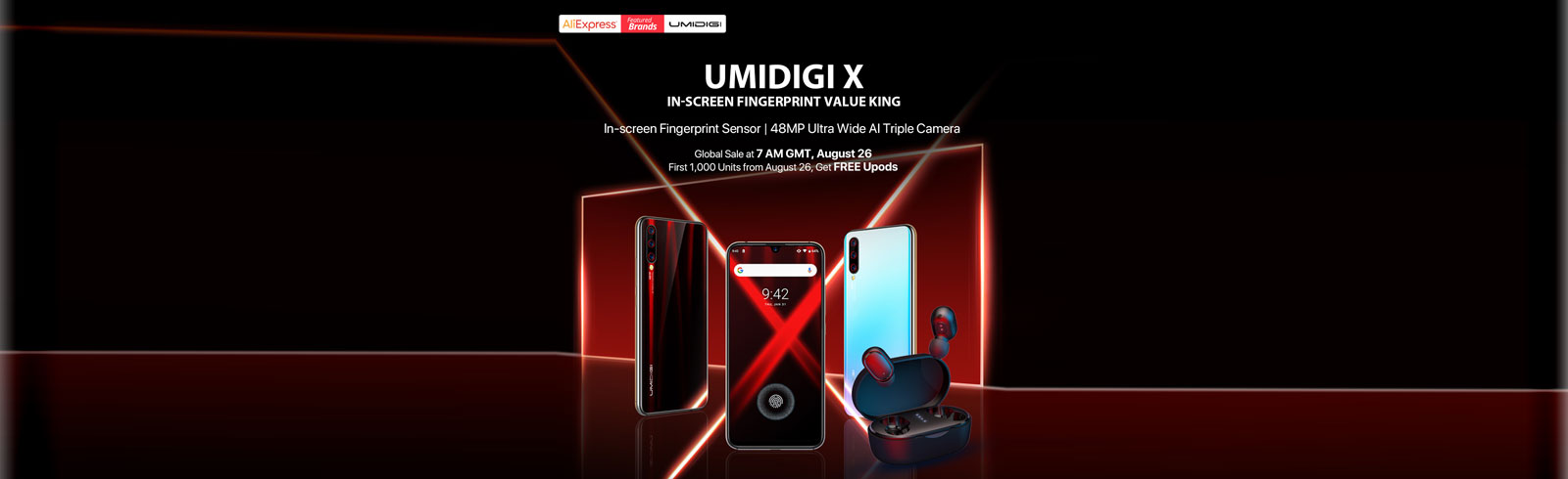 UMIDIGI X with an AMOLED display and UD fingerprint sensor is official