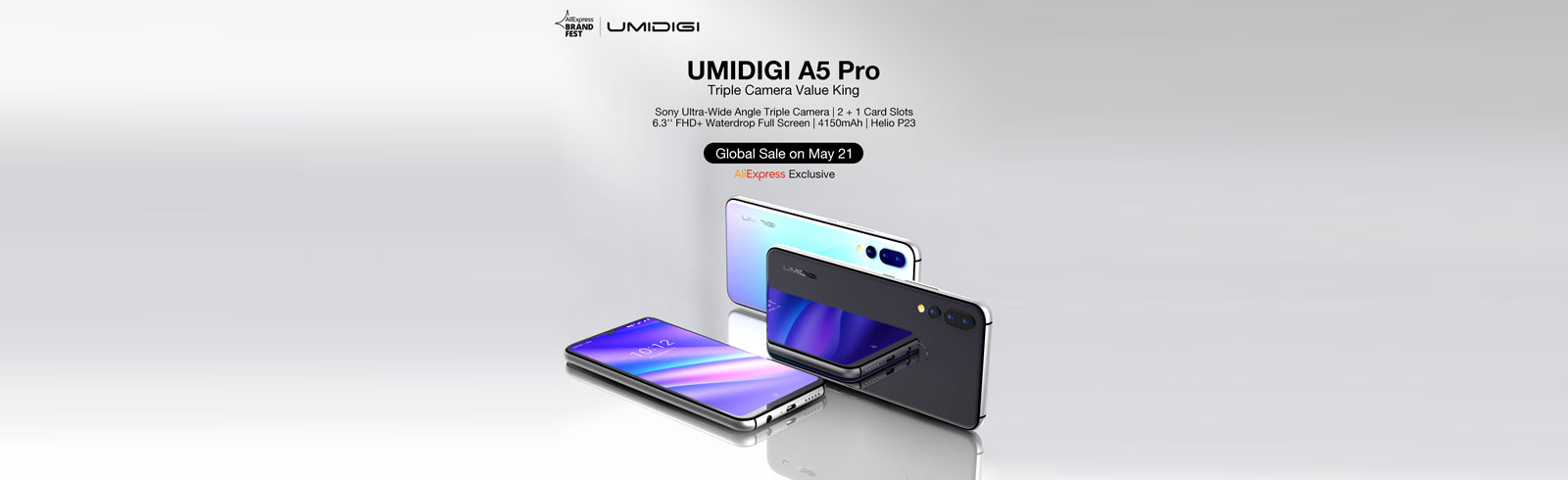 UMIDIGI A5 Pro is launched with a giveaway, global sale starts on May 21st