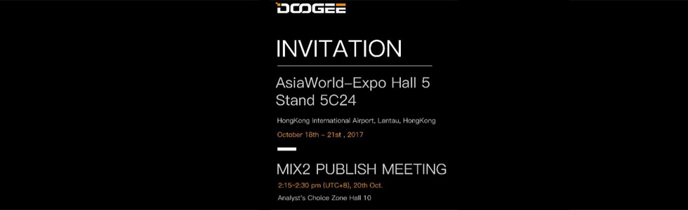 Doogee Mix 2 and BL12000 will be showcased at the Global Sources Expo in Hong Kong