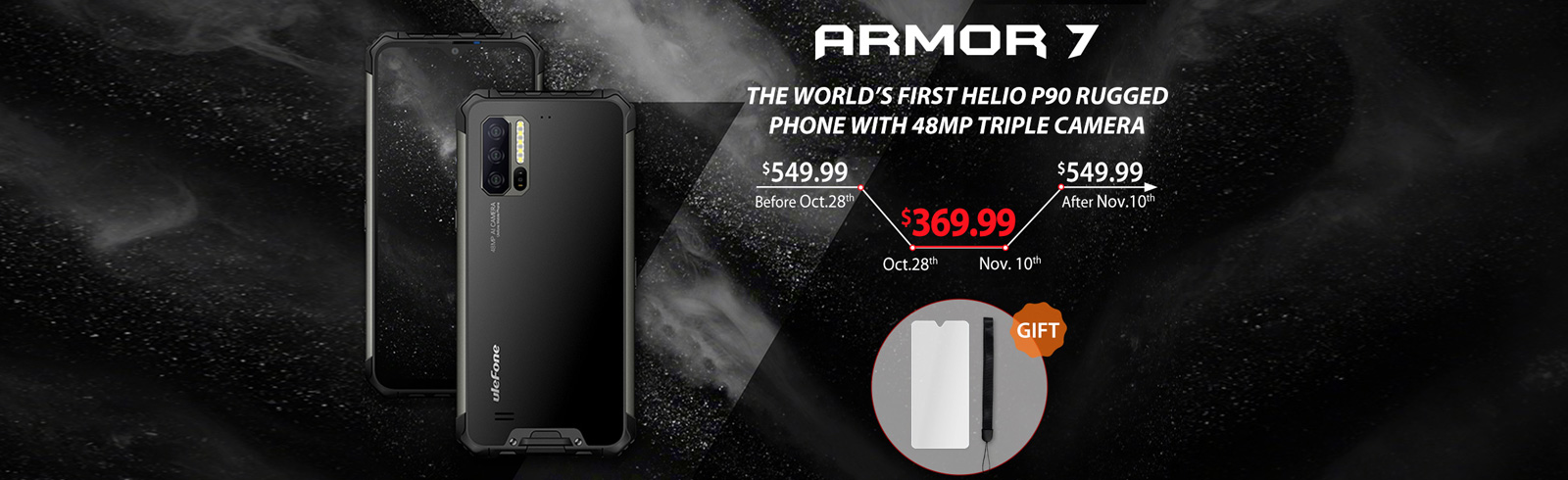 Ulefone Armor 7 goes on sale today priced at $369.99