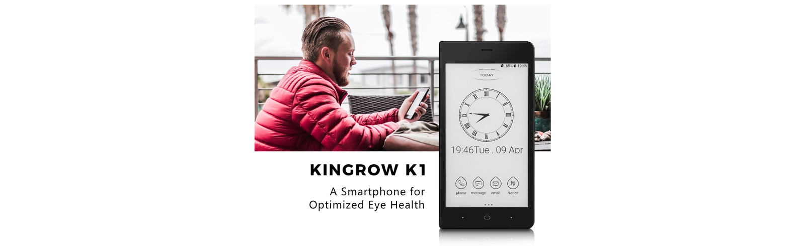 Kingrow K1 is a new crowd funded smartphone with an e-Ink display