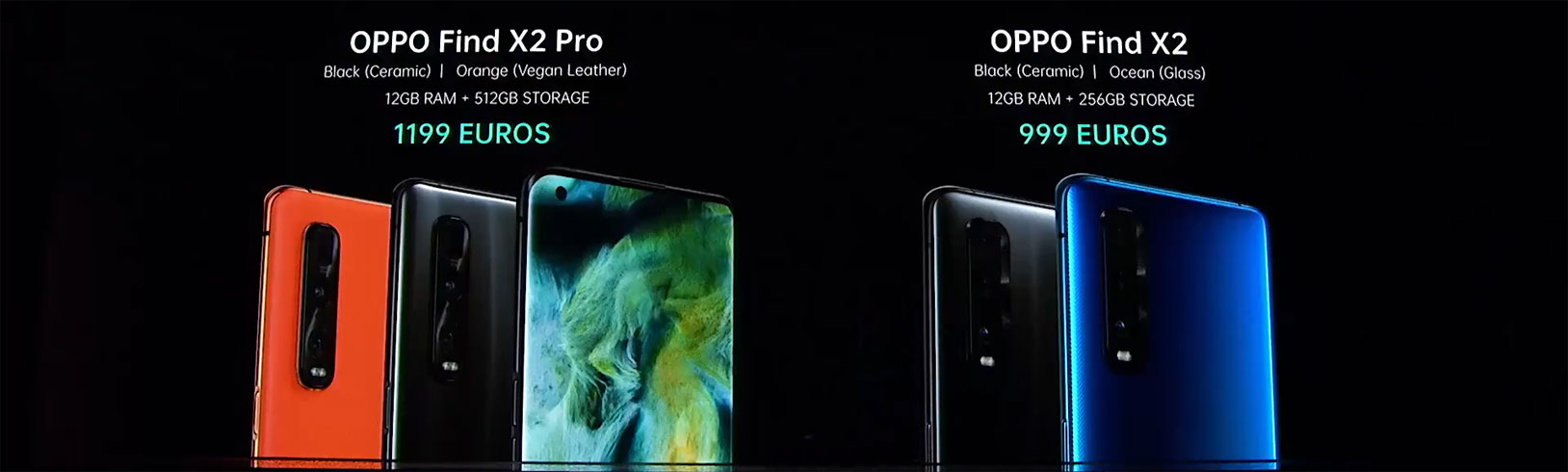 Oppo Find X2 and Oppo Find X2 specifications, prices, availability