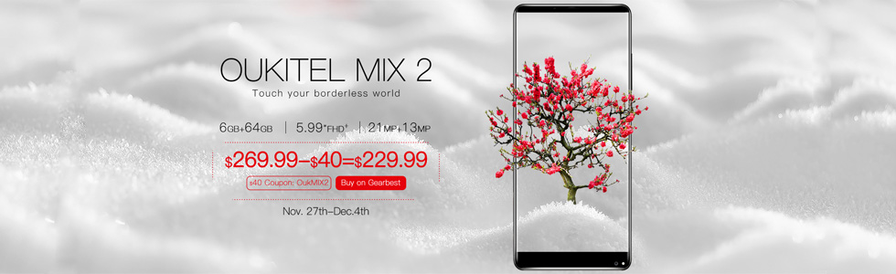Oukitel Mix 2 is on pre-sale, official video of its UI and features is launched